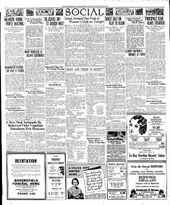 The Bakersfield Californian from Bakersfield, California on January 23, 1933 · Page 4