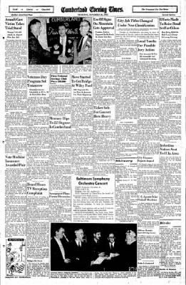 Cumberland Evening Times from Cumberland, Maryland on November 10, 1955 · Page 16