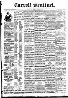 The Carroll Sentinel from Carroll, Iowa on August 10, 1894 · Page 1