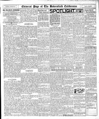The Bakersfield Californian from Bakersfield, California on January 23, 1933 · Page 12