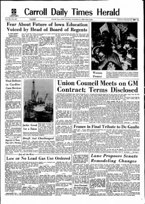 Carrol Daily Times Herald from Carroll, Iowa on November 12, 1970 · Page 1