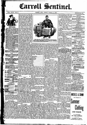 The Carroll Sentinel from Carroll, Iowa on August 17, 1894 · Page 1