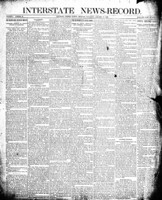 Interstate News-Record from Ironwood, Michigan on January 17, 1891 · Page 1