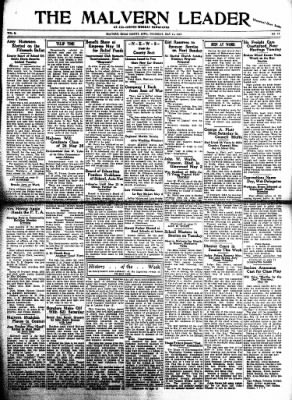 The Malvern Leader from Malvern, Iowa on May 11, 1933 · Page 1