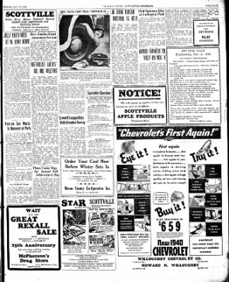 The Ludington Daily News from Ludington, Michigan on October 27, 1939 · Page 5