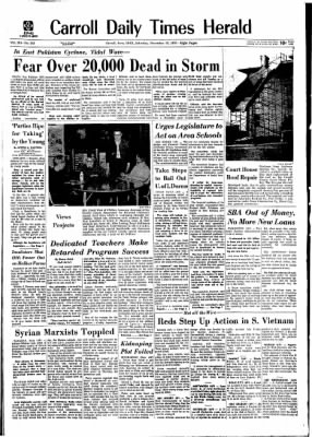 Carrol Daily Times Herald from Carroll, Iowa on November 14, 1970 · Page 1