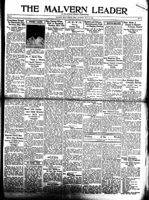 The Malvern Leader from Malvern, Iowa on May 18, 1933 · Page 1