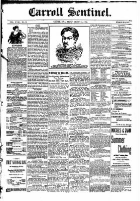 The Carroll Sentinel from Carroll, Iowa on August 31, 1894 · Page 1