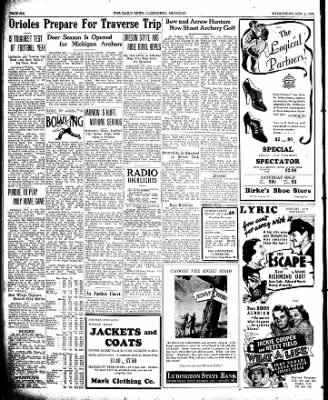 The Ludington Daily News from Ludington, Michigan on November 1, 1939 · Page 6