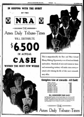 Ames Daily Tribune from Ames, Iowa on September 26, 1933 · Page 9