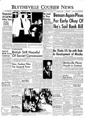 The Courier News from Blytheville, Arkansas on April 25, 1956 · Page 1