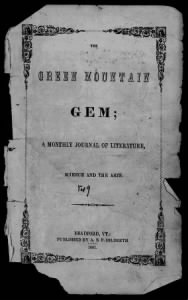 Sample The Green Mountain Gem front page