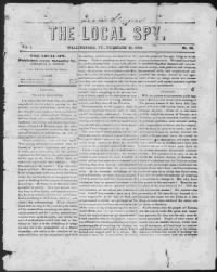 Sample The Local Spy front page