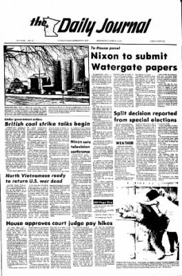 The Daily Journal from Fergus Falls, Minnesota on March 6, 1974 · Page 1