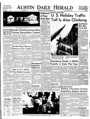 The Austin Daily Herald from Austin, Minnesota on December 27, 1958 · Page 1