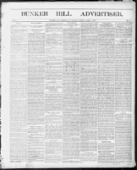 Sample Bunker Hill Banner front page