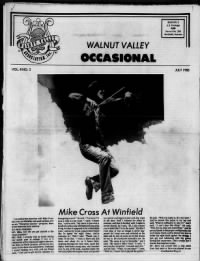 Sample Walnut Valley Occasional front page