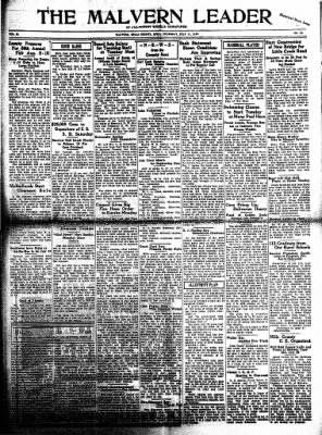 The Malvern Leader from Malvern, Iowa on July 13, 1933 · Page 1