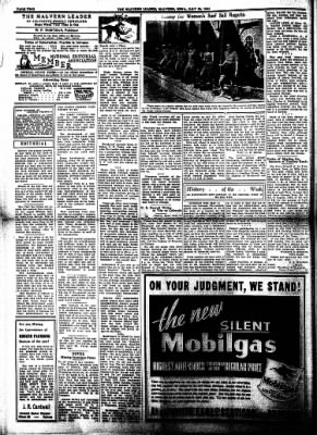 The Malvern Leader from Malvern, Iowa on July 20, 1933 · Page 2