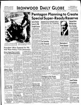 Ironwood Daily Globe from Ironwood, Michigan on July 30, 1965 · Page 1