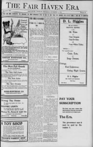 Sample The Fair Haven Era front page