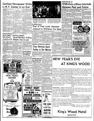 The Austin Daily Herald from Austin, Minnesota on December 29, 1958 · Page 20