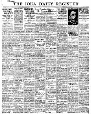 Iola Daily Register And Evening News from Iola, Kansas on March 18, 1933 · Page 1