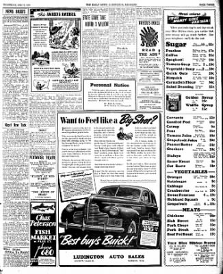 The Ludington Daily News from Ludington, Michigan on November 9, 1939 · Page 3