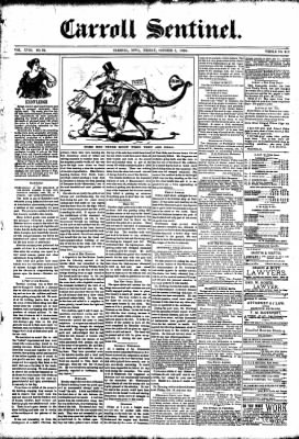 The Carroll Sentinel from Carroll, Iowa on October 5, 1894 · Page 1