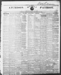 Sample The Atchison Weekly Patriot front page