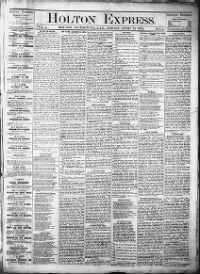 Sample Holton Express front page