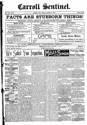 The Carroll Sentinel from Carroll, Iowa on October 19, 1894 · Page 1