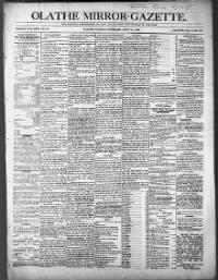 Sample Olathe Gazette front page