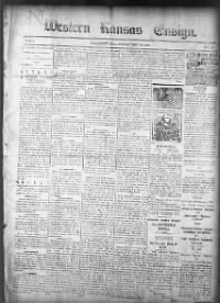 Sample Western Kansas Ensign front page