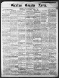Sample Graham County Lever front page