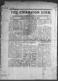 Sample The Champion Liar front page