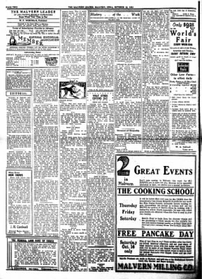 The Malvern Leader from Malvern, Iowa on October 12, 1933 · Page 2