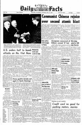 Redlands Daily Facts from Redlands, California on May 15, 1965 · Page 1