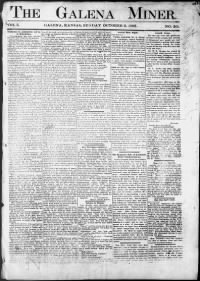 Sample Galena Miner front page