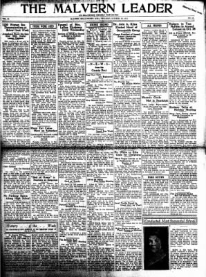 The Malvern Leader from Malvern, Iowa on October 19, 1933 · Page 1