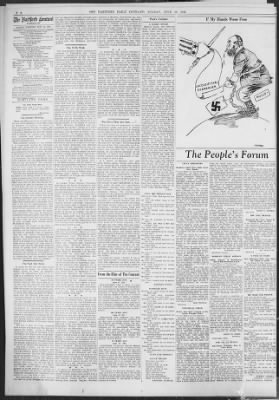 Hartford Courant from Hartford, Connecticut on June 13, 1943 · 20