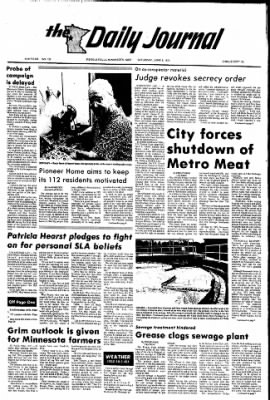 The Daily Journal from Fergus Falls, Minnesota on June 8, 1974 · Page 1