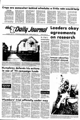 The Daily Journal from Fergus Falls, Minnesota on June 28, 1974 · Page 1