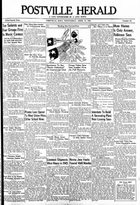 Postville Herald from Postville, Iowa on April 10, 1946 · Page 1