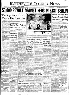 The Courier News from Blytheville, Arkansas on June 17, 1953 · Page 1