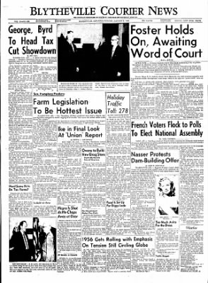 The Courier News from Blytheville, Arkansas on January 2, 1956 · Page 1