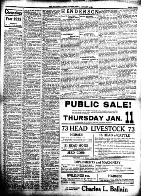The Malvern Leader from Malvern, Iowa on January 4, 1934 · Page 3