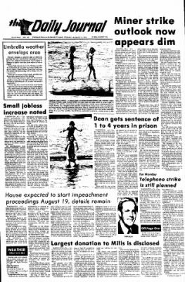 The Daily Journal from Fergus Falls, Minnesota on August 2, 1974 · Page 1