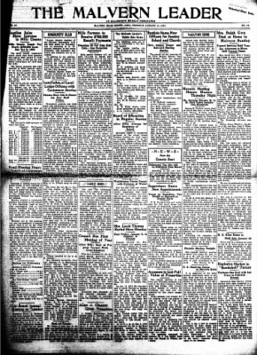 The Malvern Leader from Malvern, Iowa on January 11, 1934 · Page 1