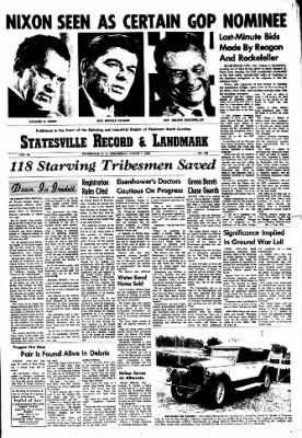 Statesville Record And Landmark from Statesville, North Carolina on August 7, 1968 · Page 1